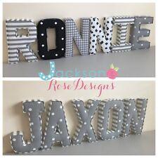 Baby Name Padded Letters, Handmade Nursery name, personalised, girl, boy