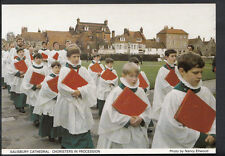 Wiltshire Postcard - Salisbury Cathedral, Choristers in Procession   B2706