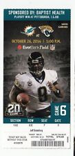 2014 JACKSONVILLE JAGUARS VS MIAMI DOLPHINS TICKET STUB 10/26/14 DAVID GERRARD