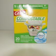 Glad Compostable Odor Shield 20 Bags Fresh Clean Scent New