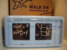 Yoshitomo Nara Patapata Flap Clock WALK ON Blue TWEMCO New From Japan