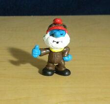 Smurfs Papa Smurf Airplane Pilot Rare Vintage Figure Classic Display Toy 20223
