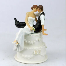 Cake Toppers Sit Groom and Bride Funny Wedding Cake Toppers Topper Bridal Dolls