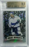 JESSE PULJUJARVI 2016 Leaf Metal GREAT MOMENTS BLACK REFRACTOR RC #2/7 BGS 9.5