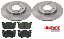 For Peugeot - 106 / 206 / 306 Rear 247mm Brake Discs & Pads Set Unipart