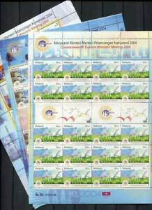 38700) MALAYSIA 2004 MNH** Tourism Minister Meeting 2004 Golf Isl. MS x3