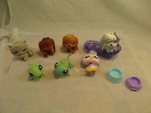 Lot of 7 Littlest Pet Shop Toys & Accessories Cat Dogs Iguanas Bird #2