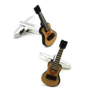 GUITAR CUFFLINKS Novelty Acoustic Instrument Music Musician NEW w GIFT BAG