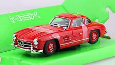 Mercedes 300 SL rot 1:24 Welly  Modellauto 24064