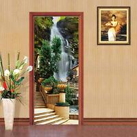 3D European Waterfall Self-adhesive Door Murals Wall Sticker Decal Home Decor