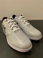 Under Armour SL Spikeless Golf Shoes Gray White/Red [1302345-101] Size 9.5