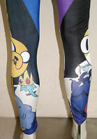 NEW Adventure Time with Finn and Jake Cake Fionna Ice King Leggings Yoga Pants