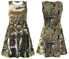 Unique Walking Zombies Blood Outbreak Cars Helicopter Flash Skater Flare Dress