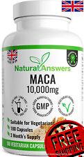 Maca Root Capsules 10,000mg 180 Vegetarian Maca Capsules 3 Months Made in The UK