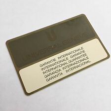 UNIVERSAL GENEVE Vintage 1970´s Guarantee Card Chronograph Tri-Compax Tricompax