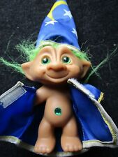 Vintage Ace Novelty Wizard Troll~Green Hair/Eyes & Belly Button Wish Stone