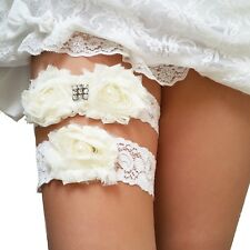 Ivory White Wedding Garter Set( keepsake+toss), Bridal Prom Lace Garter Set