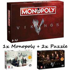 Monopoly Vikings Brettspiel Gesellschaftsspiel Spiel +2 x 500 Teile Puzzles