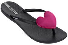 97b195f0b Ipanema Women`s Flip Flops Wave Heart Sandal Black Red Brazilian Sandals NWT