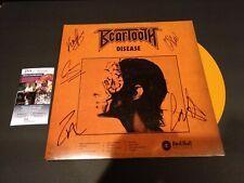 BEARTOOTH SIGNED DISEASE Vinyl LP JSA autograph Orange Variant Caleb Shomo