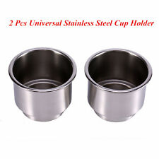 2 Pcs Universal Car SUV Truck Marin Boat Stainless Steel Cup Drink Bottle Holder
