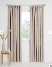 John Lewis Croft Skye Lined Pencil Pleat Curtains Rosa Dusty Pale Pink 228x228cm