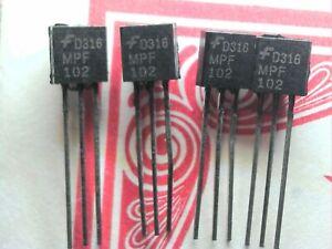 MPF102 N-Channel JFET Transistor.  4Stück