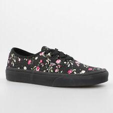 Vans Zapatos Mujer Auténtico Black Negro Flores VYS7ER9 Florecitas