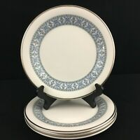 Set of 4 VTG Bread Plates Royal Doulton Counterpoint Bone China Floral England