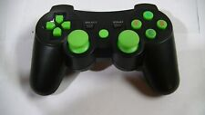 Playstation 3 / PS3 Wireless Controller (black with green button)