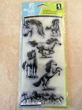 Inkadinkado Clear Acrylic Stamps Horses 99540 NEW