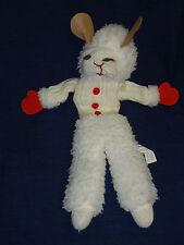 "19"" plush & knit Lamb Chop Hand Puppet 1992 Sheri Lewis"