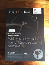 New iRiver On Heart Rate Monitor Bluetooth Headphones for iPhone If-M100