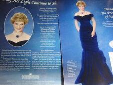 Ashton Drake Princess Diana Doll Ad BLUE VELVET GOWN ~Advertisement ONLY
