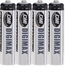 4 x AAA 750 MAH RECHARGEABLE BATTERIES-NI-MH (LR03)