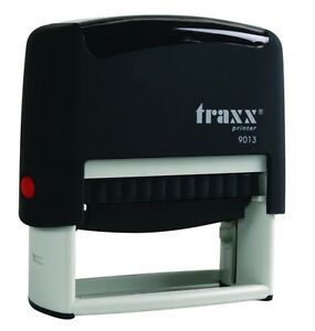 Custom Self Inking Rubber Stamp Traxx 9013 5 Line Return Address