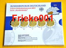 Duitsland - Allemagne - 5x 2 euro 2013 comm in blister proof.(Baden Württemberg)