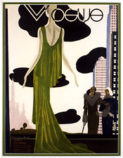 Vogue Art Deco Fashion Formal 1930's  magazine cover art poster print SKU2506