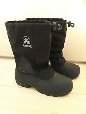 Black Kamik Mens Winter Snow Boots with Liner - Size 7