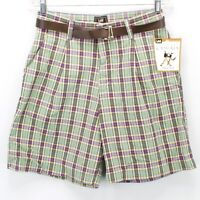 Ladies Lee Midrise Fit Plaid Bermuda Shorts Size 6M Medium New NWT Free Shipping