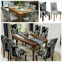 Chair Covers Dining Seat Slip Stretch Wedding Banquet Party Removable 1/2/4/6PCS