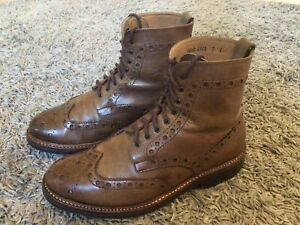 GRENSON *FRED* MENS 5068 BROWN LEATHER BOOTS  UK  7 G  EU 41