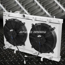 FOR 02-07 IMPREZA WRX STI 2-ROW/DUAL-CORE ALUMINUM RACING RADIATOR+FAN SHROUD