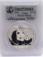 2011 China Silver Panda 10 Yuan PCGS MS70 - First Strike