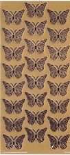 Stickers Butterfly Gold Colour for Scrapbooking sticker Album school