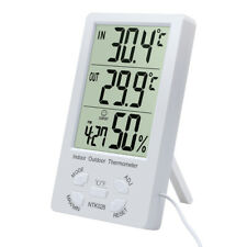 Indoor/Outdoor Thermometer Digital LCD Hygrometer Meter Temperature Humidity YT