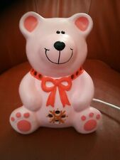Piggery Pottery Handmade Ceramic Pink Little Teddy Children's Night Light Lamp