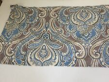 Paisley King Size Pillow Sham Aqua Blue Beige Taupe Button Closure Polyester (1)