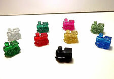 Mexican Train Domino Game Markers  8 Glitter Pieces Per Bag+ Bonus Black Train