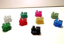 Mexican Train Domino Game Markers  8 Glitter Pieces Per Bag+ Bonus Black Train